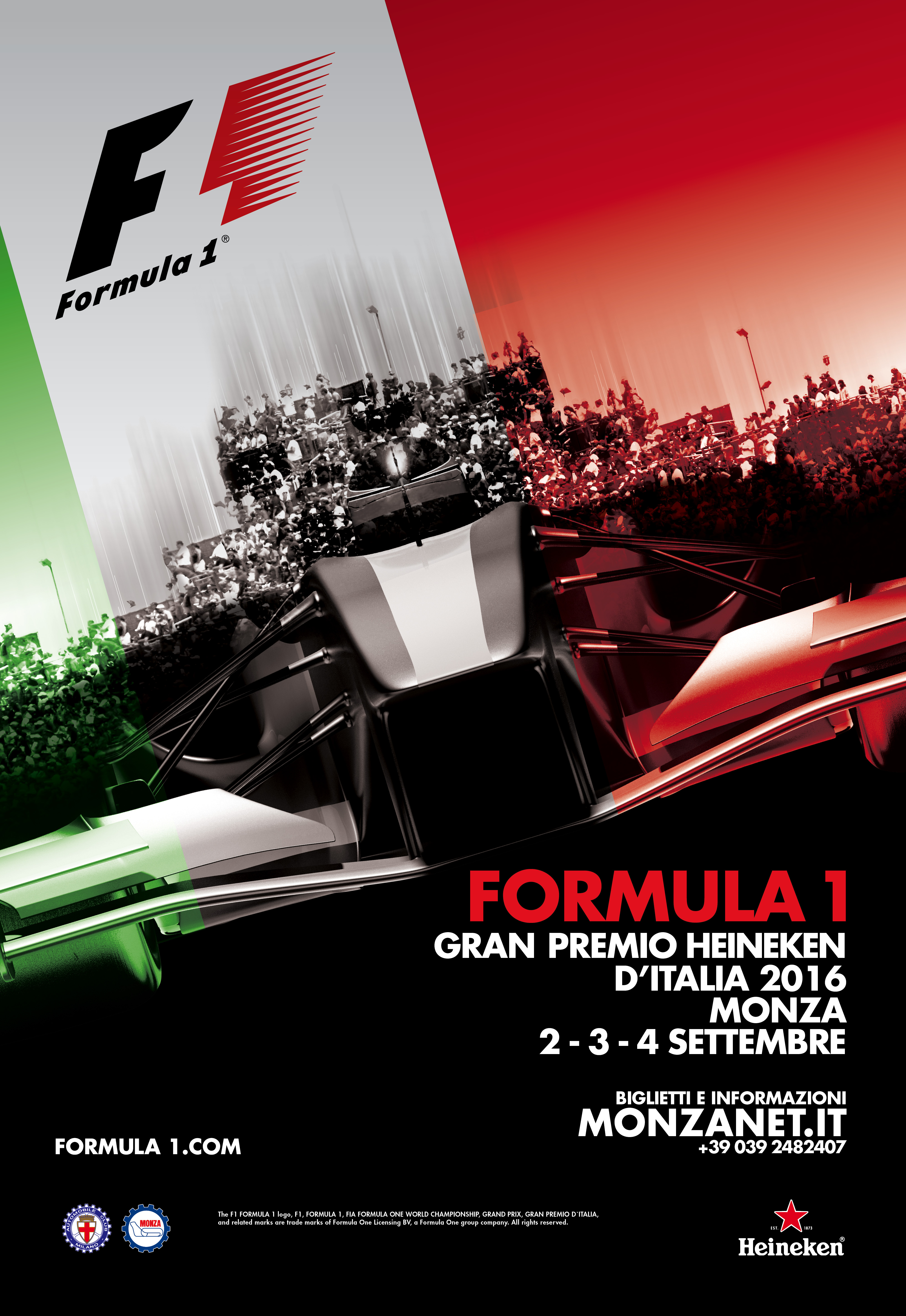 Formula 1 Heineken Gran Prix Of Italy 2016 Monza And Brianza Official Visitor Guide